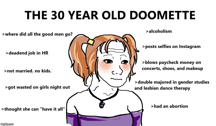 Doomette | image tagged in female,doomer,girl,30yearold,hopeless | made w/ Imgflip meme maker
