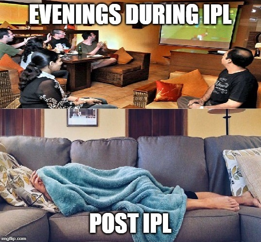 Fans Post Cricket (IPL) Season | image tagged in funny memes,cricket | made w/ Imgflip meme maker