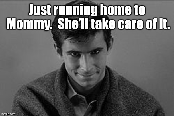 Just running home to Mommy.  She'll take care of it. | made w/ Imgflip meme maker