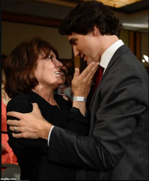 Justins Mom | image tagged in justin trudeau,pro choice,dude you're an idiot,idiot | made w/ Imgflip meme maker