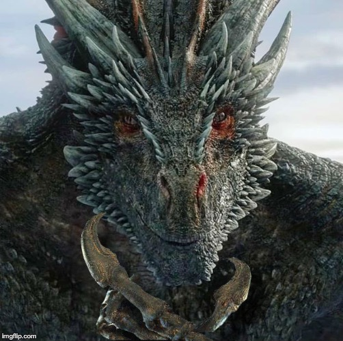 thinking dragon | image tagged in dragon,thinking,game of thrones,drogon,dracarys | made w/ Imgflip meme maker