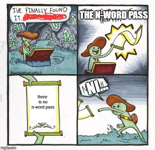 The n-word pass - Imgflip