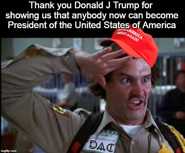 Donald J Trump Thank You Anyone Can Be President Blank ...