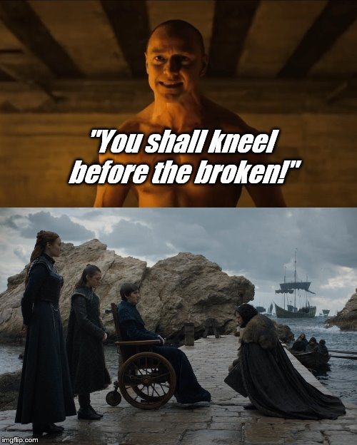 "M. Night Shyamalan's GoT spoiler | ""You shall kneel before the broken!"" 