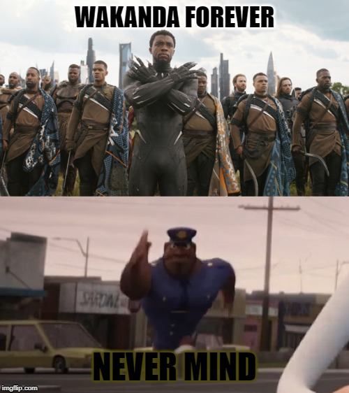 Wakanda Forever Meme Plantilla