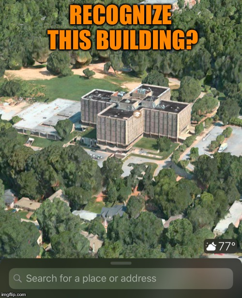 1256 Briarcliff Rd, Atlanta, GA | RECOGNIZE THIS BUILDING? | image tagged in atlanta,georgia,stranger things,building | made w/ Imgflip meme maker