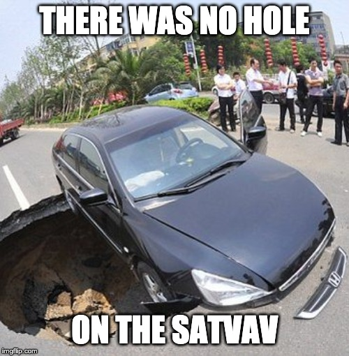 Intructions |  THERE WAS NO HOLE; ON THE SATVAV | image tagged in blind,satnav | made w/ Imgflip meme maker
