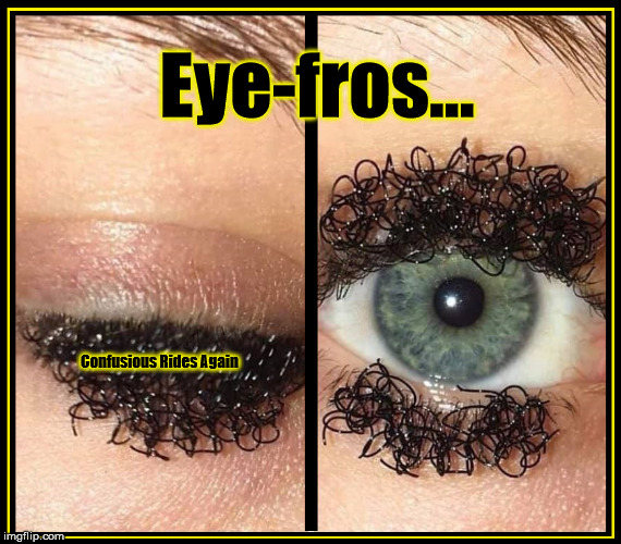 Eye-Fros |  Eye-fros... Confusious Rides Again | image tagged in funny | made w/ Imgflip meme maker