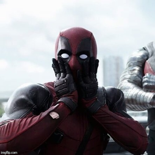 Deadpool Surprised Meme | image tagged in memes,deadpool surprised | made w/ Imgflip meme maker