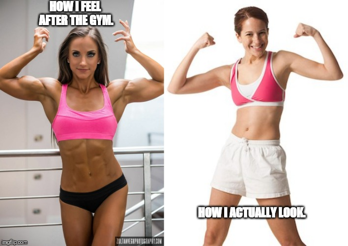 HOW I FEEL AFTER THE GYM. HOW I ACTUALLY LOOK. | image tagged in fitness,expectation vs reality | made w/ Imgflip meme maker