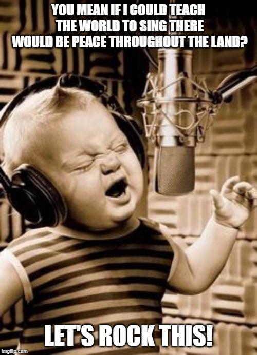 Singing Baby In Studio Memes & GIFs