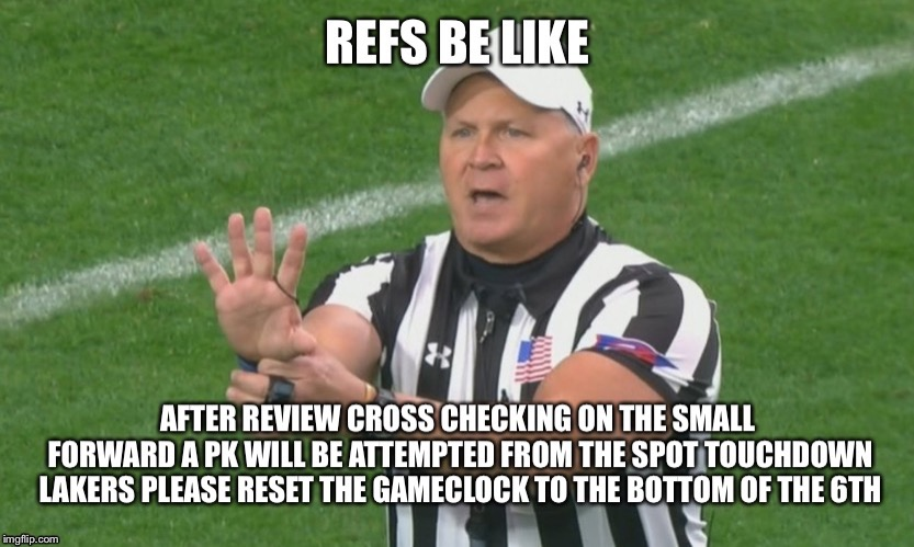 we all love them refs | image tagged in sports | made w/ Imgflip meme maker