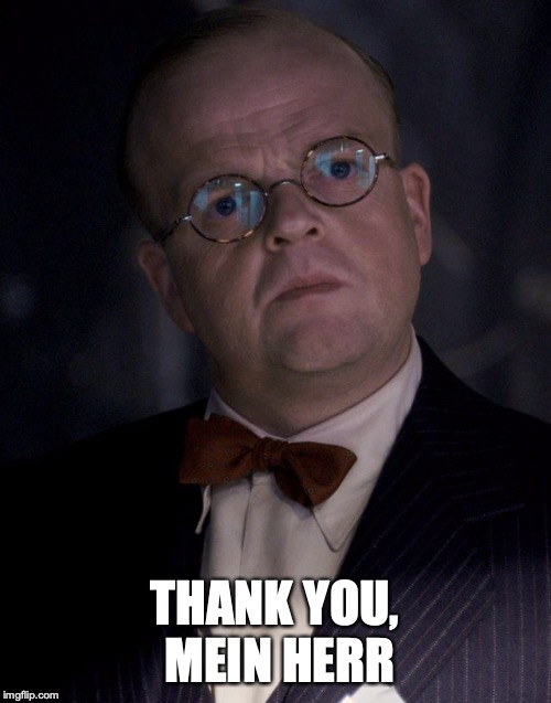 Dr. Zola bow tie  | THANK YOU, MEIN HERR | image tagged in dr zola bow tie | made w/ Imgflip meme maker