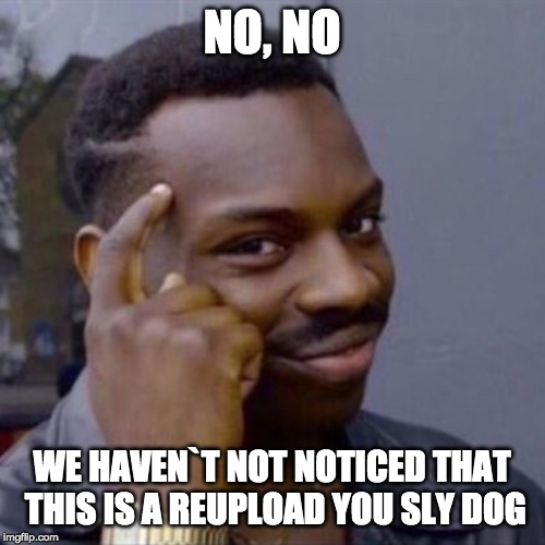 NO, NO WE HAVEN`T NOT NOTICED THAT THIS IS A REUPLOAD YOU SLY DOG | image tagged in wise black guy | made w/ Imgflip meme maker