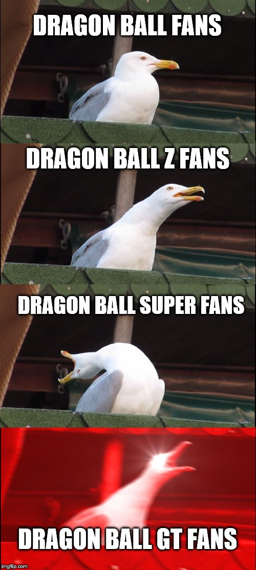 In simple terms.  Cool.  Awesome.  Stupid Goku.  RAP MUSIC!! | DRAGON BALL FANS DRAGON BALL Z FANS DRAGON BALL SUPER FANS DRAGON BALL GT FANS | image tagged in memes,inhaling seagull,dbz,dbz meme | made w/ Imgflip meme maker