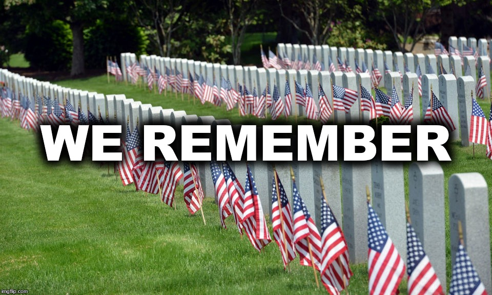 WE REMEMBER | image tagged in memorial day,pepperidge farms remembers,remember | made w/ Imgflip meme maker