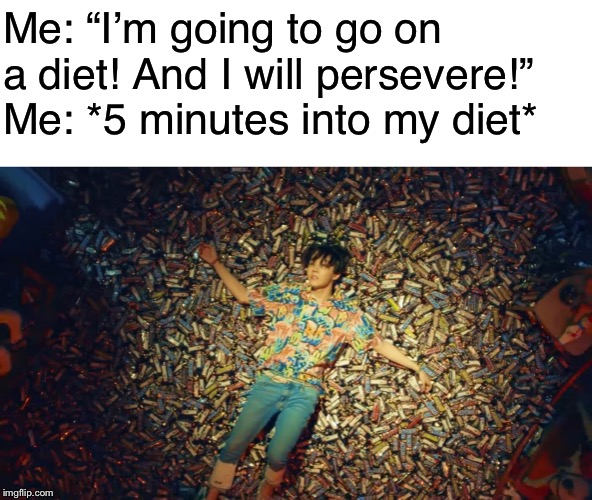 "The Chocolate can have a strong influence on the weak-minded.... and I am VERY weak-minded. | Me: ""I'm going to go on a diet! And I will persevere!""   Me: *5 minutes into my diet* 