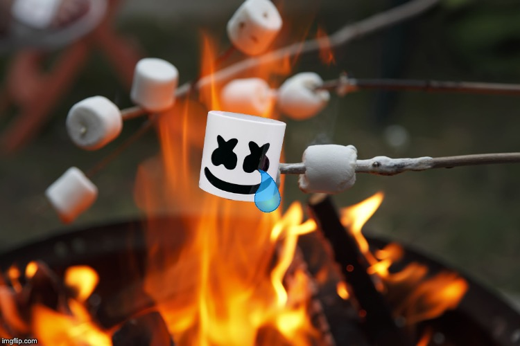 Roasting marshmellows | image tagged in roasting marshmellows | made w/ Imgflip meme maker