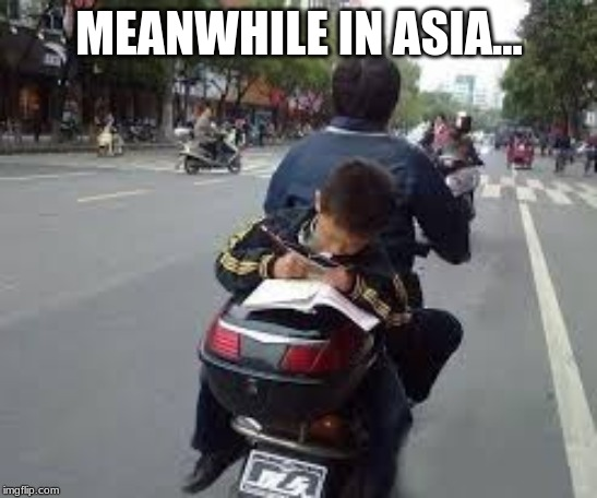 NEEERDS! | MEANWHILE IN ASIA... | image tagged in fun | made w/ Imgflip meme maker