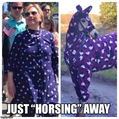 "JUST ""HORSING"" AWAY 