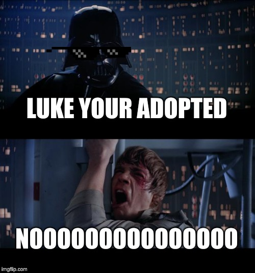 Adopted | image tagged in adopted | made w/ Imgflip meme maker
