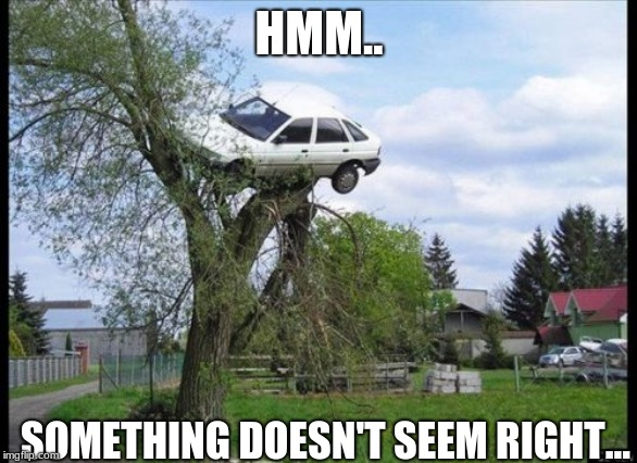 Secure Parking | HMM.. SOMETHING DOESN'T SEEM RIGHT... | image tagged in memes,secure parking | made w/ Imgflip meme maker