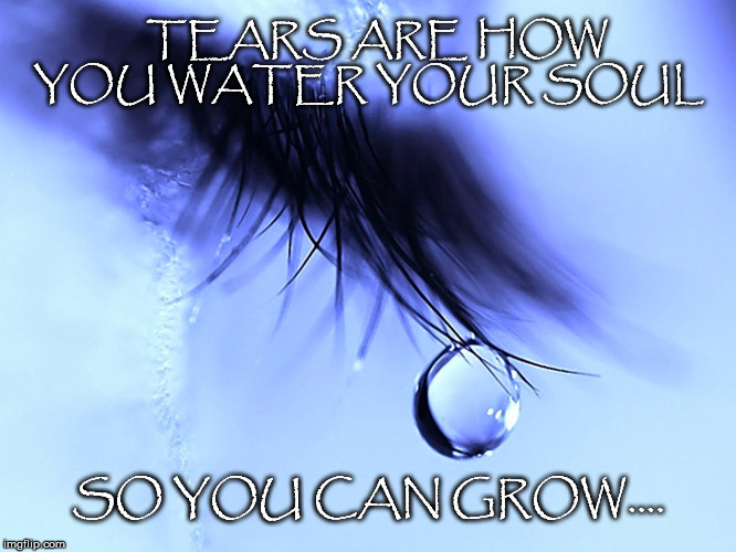 Grow | TEARS ARE HOW YOU WATER YOUR SOUL SO YOU CAN GROW.... | image tagged in gemma troy,tears,water,soul,grow,self actualization | made w/ Imgflip meme maker