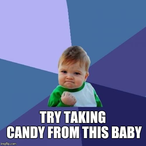Success Kid Meme | TRY TAKING CANDY FROM THIS BABY | image tagged in memes,success kid | made w/ Imgflip meme maker