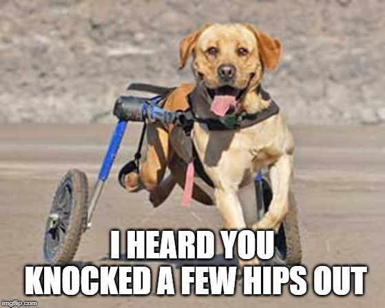 I HEARD YOU KNOCKED A FEW HIPS OUT | made w/ Imgflip meme maker