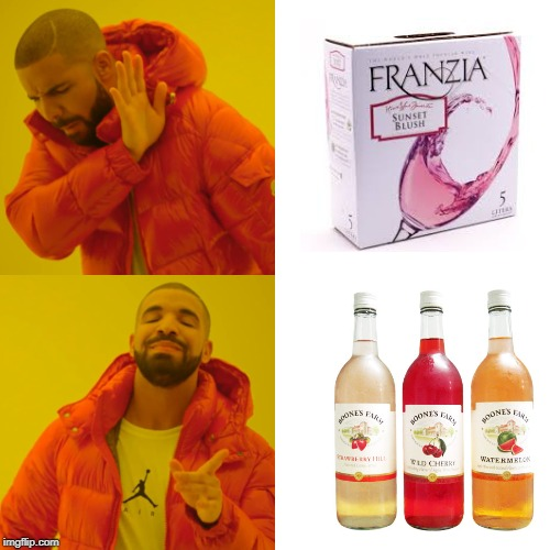 The Better Cheap Wine! | image tagged in memes,drake hotline bling | made w/ Imgflip meme maker