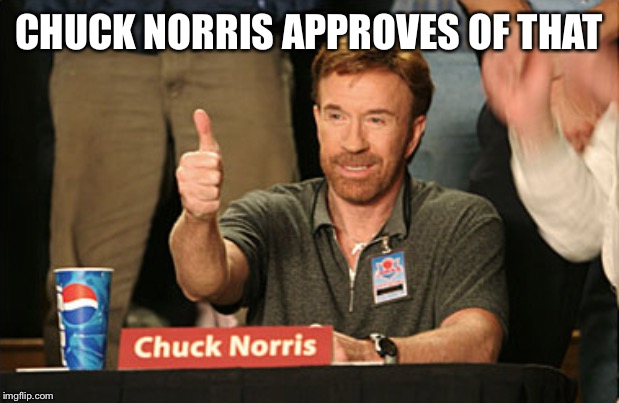 Chuck Norris Approves Meme | CHUCK NORRIS APPROVES OF THAT | image tagged in memes,chuck norris approves,chuck norris | made w/ Imgflip meme maker