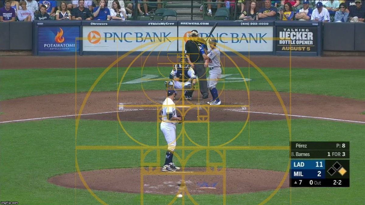 Baseball and the Golden Ratio. | image tagged in the golden ratio,sports,baseball,batter,pitcher,geometry,GeometryIsNeat | made w/ Imgflip meme maker