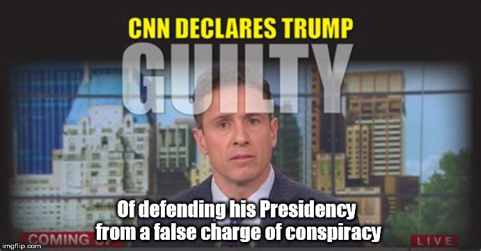CNN - Acosted Daily NOISE | Of defending his Presidency from a false charge of conspiracy | image tagged in cnn,media,mediaocracy | made w/ Imgflip meme maker