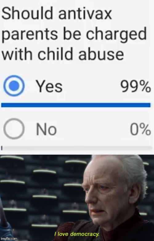 Good to know that so many people have common sense! | E | image tagged in i love democracy,antivax,polls,memes | made w/ Imgflip meme maker