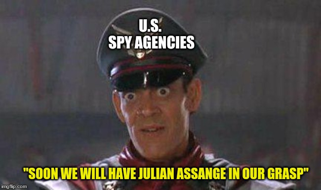 "They Are Waiting For Us To Forget About Julian Assange | U.S. SPY AGENCIES ""SOON WE WILL HAVE JULIAN ASSANGE IN OUR GRASP"" 