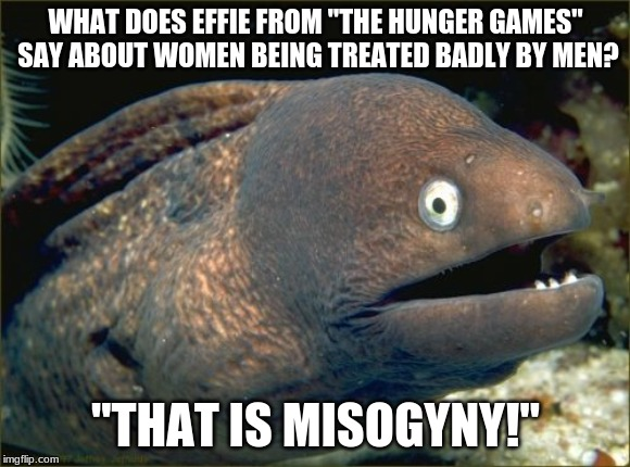 "Why do you think she says ""Ladies first"" before selecting a tribute for The Hunger Games? 