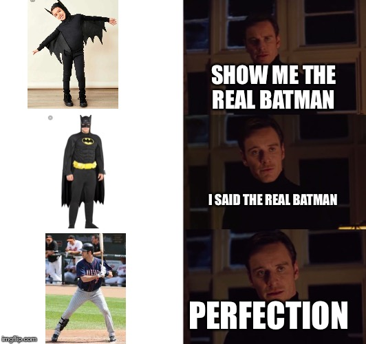 The real Batman | SHOW ME THE REAL BATMAN I SAID THE REAL BATMAN PERFECTION | image tagged in perfection,batman,perfect,jokes,baseball | made w/ Imgflip meme maker