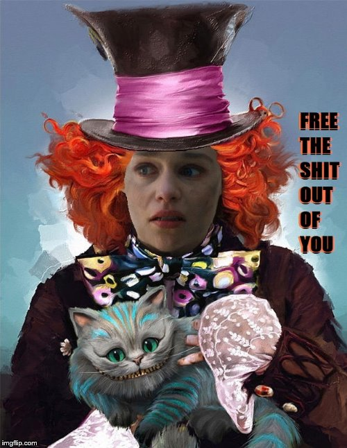 Mad Hatter Dragon Queen | image tagged in game of thrones | made w/ Imgflip meme maker