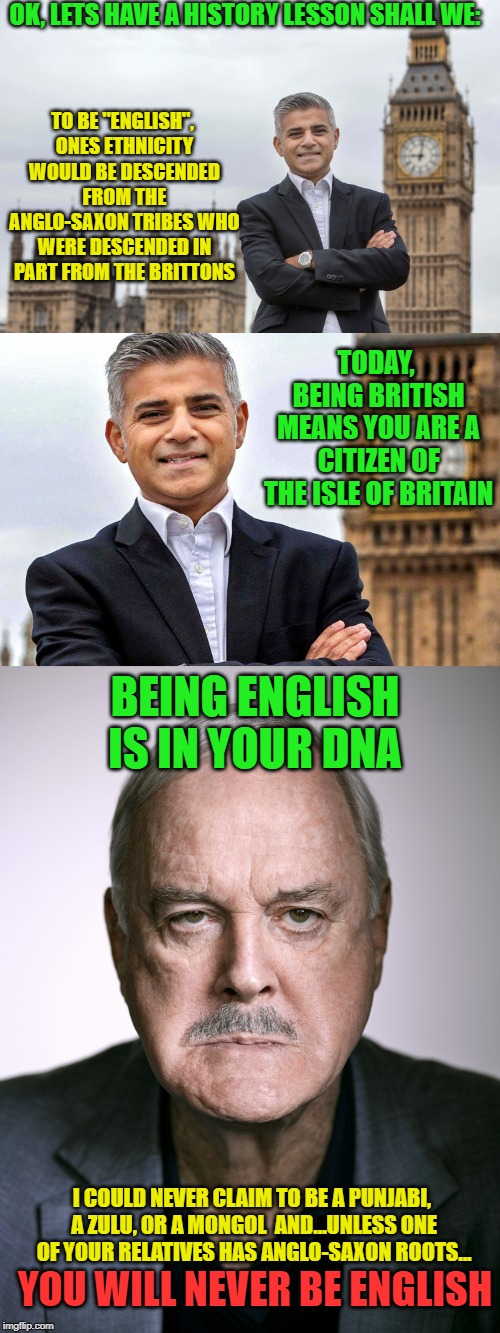 "It is confusing but... | OK, LETS HAVE A HISTORY LESSON SHALL WE: TO BE ""ENGLISH"", ONES ETHNICITY WOULD BE DESCENDED FROM THE ANGLO-SAXON TRIBES WHO WERE DESCENDED I 