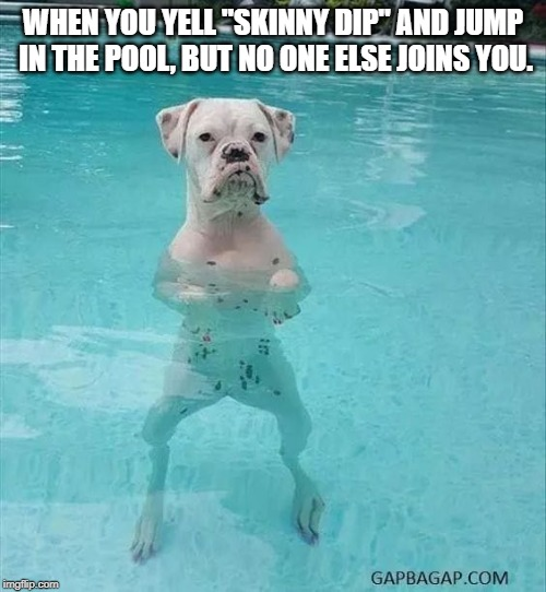 "Have you ever been this person? | WHEN YOU YELL ""SKINNY DIP"" AND JUMP IN THE POOL, BUT NO ONE ELSE JOINS YOU. 