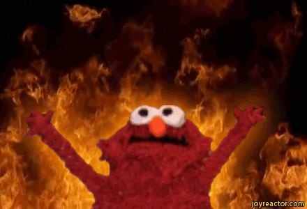 Burning Elmo Blank Template Imgflip