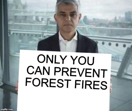 New Template! | ONLY YOU CAN PREVENT FOREST FIRES | image tagged in sadiq's sign,memes,funny,political,smokey the bear,forest fires | made w/ Imgflip meme maker