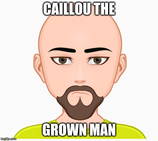 40 Year Old Caillou | CAILLOU THE GROWN MAN | image tagged in caillou,memes,beard | made w/ Imgflip meme maker