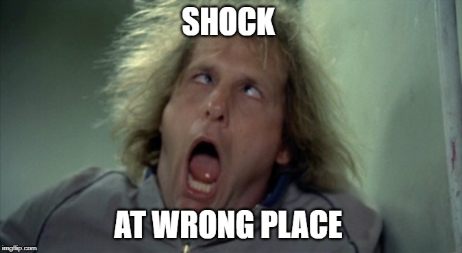Scary Harry | SHOCK AT WRONG PLACE | image tagged in memes,scary harry | made w/ Imgflip meme maker