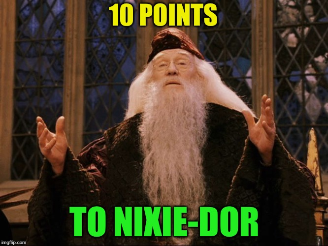 Dumbledore | 10 POINTS TO NIXIE-DOR | image tagged in dumbledore | made w/ Imgflip meme maker