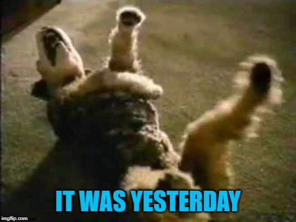 IT WAS YESTERDAY | made w/ Imgflip meme maker