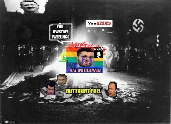 #voxadpocolypse | image tagged in twitter,youtube,butthurt liberals,censorship | made w/ Imgflip meme maker