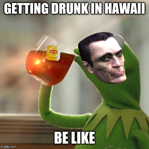 But That's None Of My Business |  GETTING DRUNK IN HAWAII; BE LIKE | image tagged in memes,but thats none of my business,kermit the frog | made w/ Imgflip meme maker