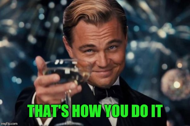 Leonardo Dicaprio Cheers Meme | THAT'S HOW YOU DO IT | image tagged in memes,leonardo dicaprio cheers | made w/ Imgflip meme maker