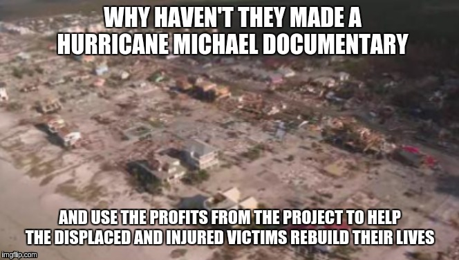 The southern Gulf Coast region |  WHY HAVEN'T THEY MADE A HURRICANE MICHAEL DOCUMENTARY; AND USE THE PROFITS FROM THE PROJECT TO HELP THE DISPLACED AND INJURED VICTIMS REBUILD THEIR LIVES | image tagged in help,hurricane michael,natural disaster | made w/ Imgflip meme maker